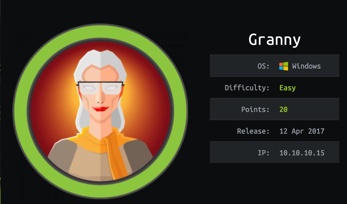 hackthebox granny