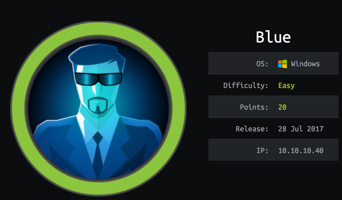 Hackthebox blue without metasplit