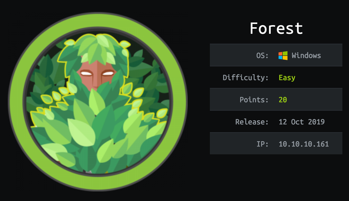 Hack the box – Forest writeup without Metasploit